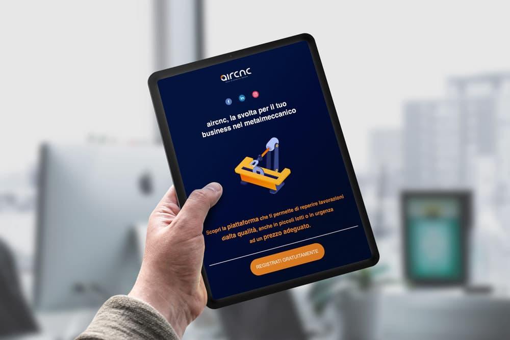 Aircnc - La piattaforma italiana che connette clienti e fornitori dell'industria manifatturiera